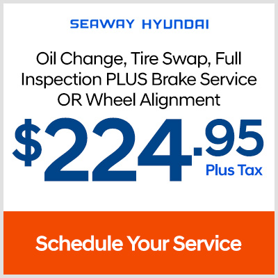 Oil change, tire swap, full inspection plus a brake service or wheel alignment - $224.95 plus tax