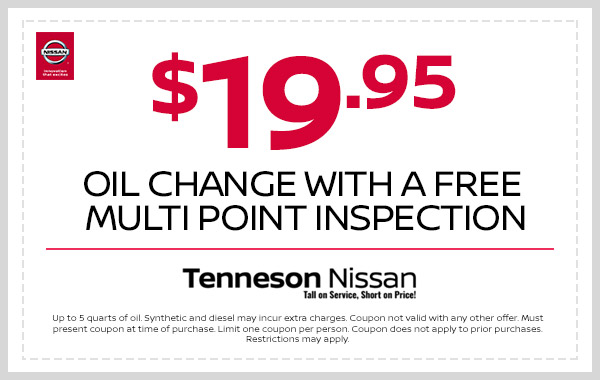 $19.95 oil change with a free multi point inspection