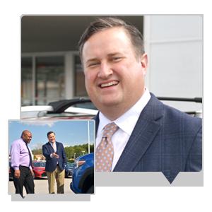 Ryan Norris in front of Toyota of Easley Dealership