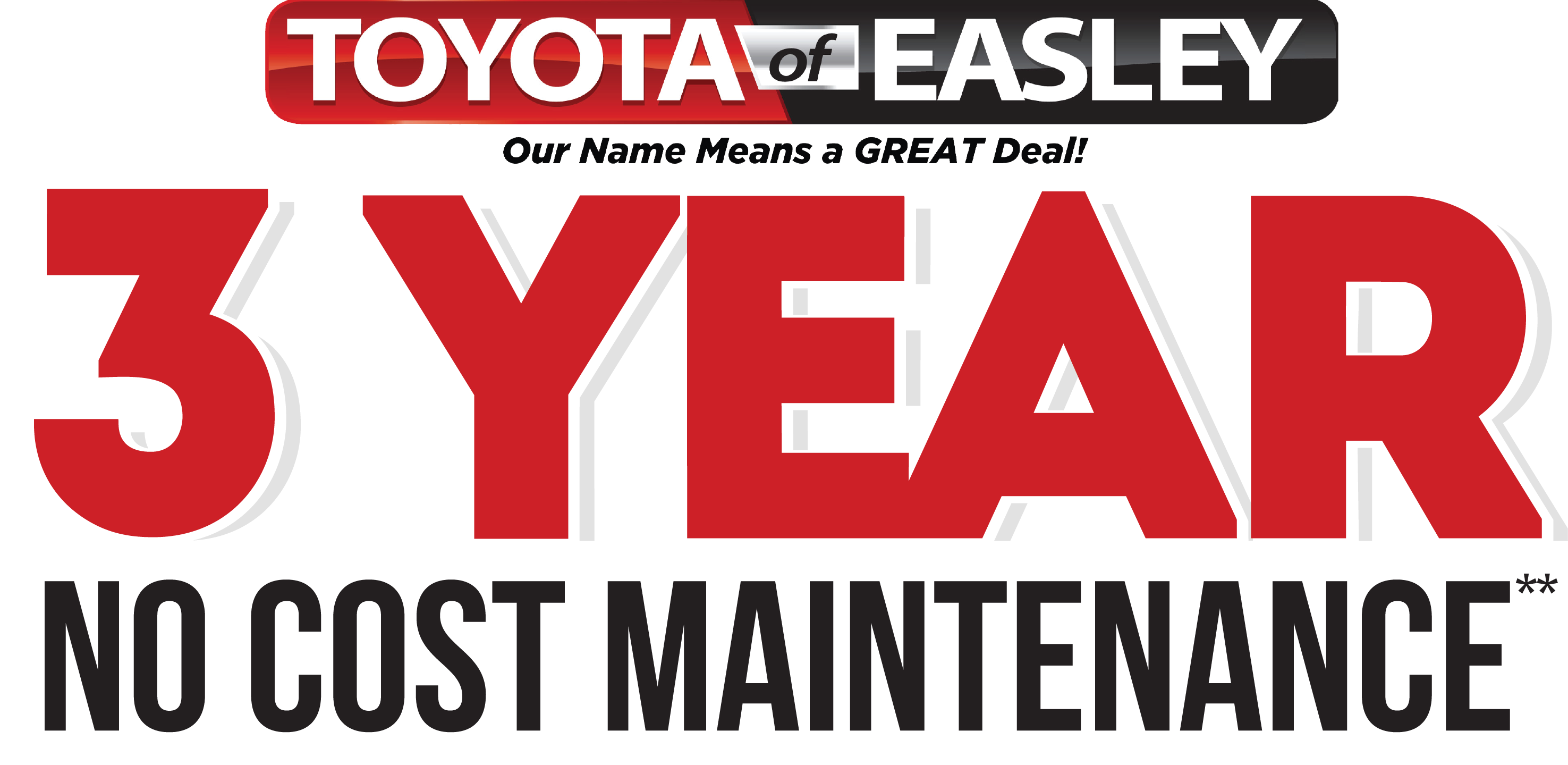 3 Year No Cost Maintenance