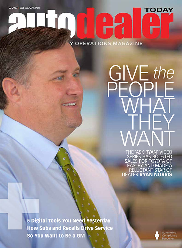 Ryan Norris on the Cover of Auto Dealer Today