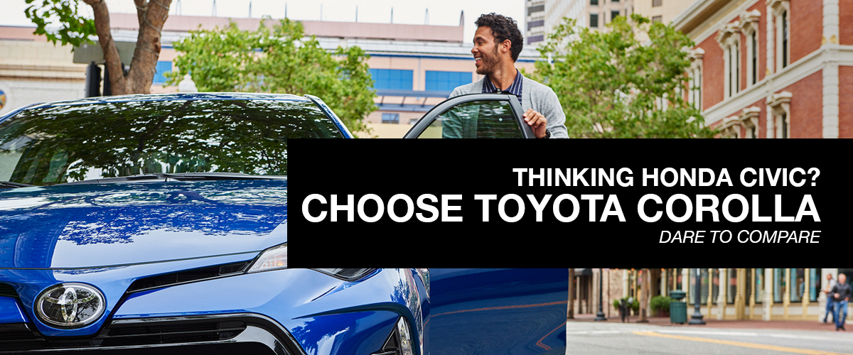 Thinking Sentra? Choose Corolla