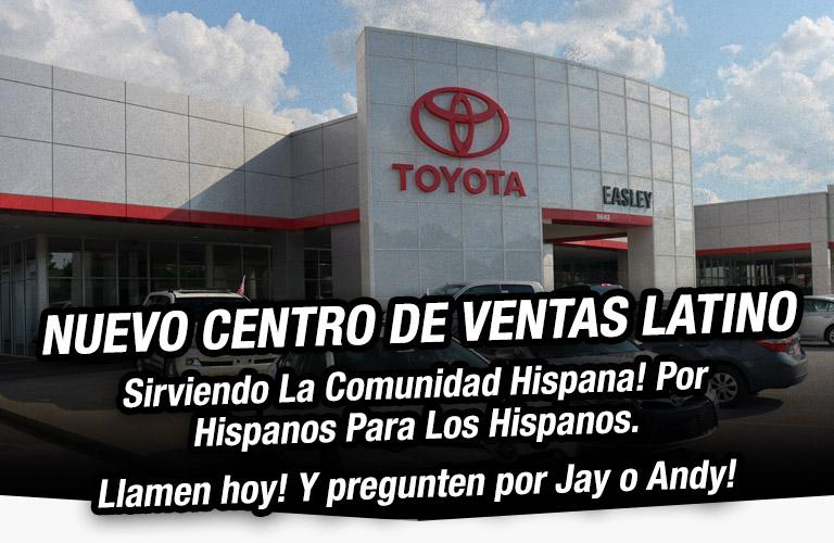 Nuevo Centro de Ventas Lation: Sirviendo La Comunidad! Por Hispanos Para Los Hispanos. Llamen hoy! Y pregunten por Jay o Andy!
