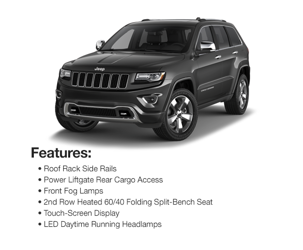 2017 Jeep Grand Cherokee Limited Sport: $528 Lease Per Mo. For 39 Mos. or $494 Lease Per Mo. For 48 Mos.